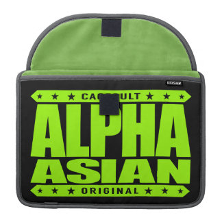 ALPHA ASIAN - On Top of Genetic Food Chain, Lime MacBook Pro Sleeve