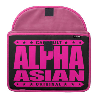 ALPHA ASIAN - On Top of Genetic Food Chain, Pink MacBook Pro Sleeve