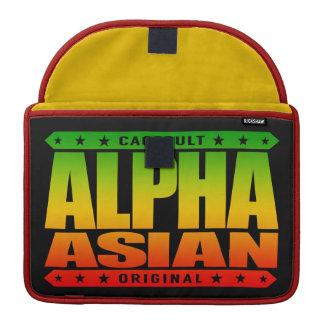 ALPHA ASIAN - On Top of Genetic Food Chain, Rasta MacBook Pro Sleeve