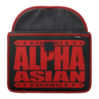 ALPHA ASIAN - On Top of Genetic Food Chain, Red MacBook Pro Sleeve