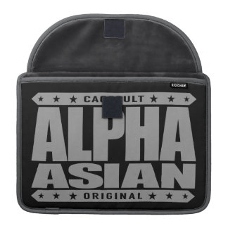 ALPHA ASIAN - On Top of Genetic Food Chain, Silver Sleeve For MacBooks