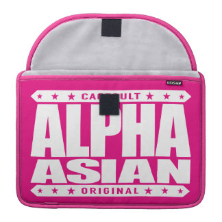 ALPHA ASIAN - On Top of Genetic Food Chain, White Sleeve For MacBook Pro