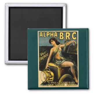 Alpha B.R.C. Lyon Tours Berlin Vintage Automobile 2 Inch Square Magnet
