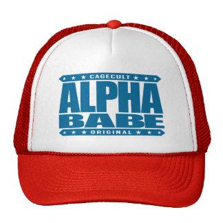ALPHA BABE - I Support Female Empowerment, Blue Trucker Hat