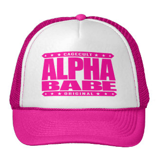 ALPHA BABE - I Support Female Empowerment, Pink Trucker Hat