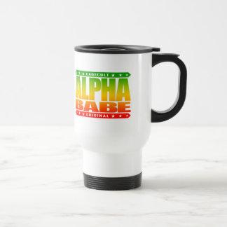ALPHA BABE - I Support Female Empowerment, Rasta Travel Mug