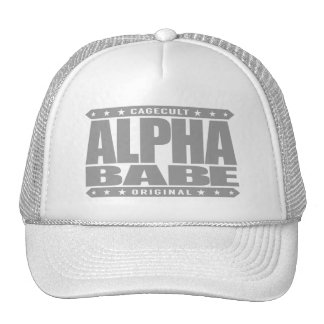 ALPHA BABE - I Support Female Empowerment, Silver Trucker Hat