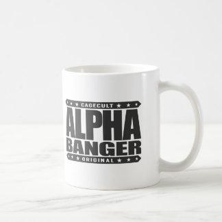 ALPHA BANGER - I'm An Undefeated Kickboxer, Black Classic White Coffee Mug
