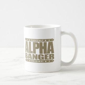 ALPHA BANGER - I'm An Undefeated Kickboxer, Gold Classic White Coffee Mug