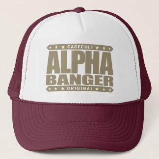 ALPHA BANGER - I'm An Undefeated Kickboxer, Gold Trucker Hat