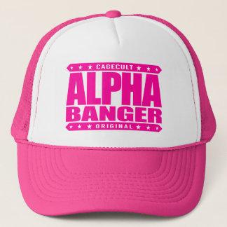 ALPHA BANGER - I'm An Undefeated Kickboxer, Pink Trucker Hat
