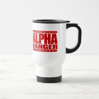 ALPHA BANGER - I'm An Undefeated Kickboxer, Red Travel Mug