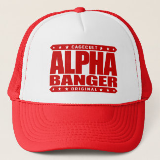 ALPHA BANGER - I'm An Undefeated Kickboxer, Red Trucker Hat