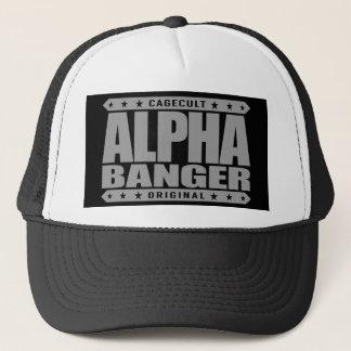 ALPHA BANGER - I'm An Undefeated Kickboxer, Silver Trucker Hat