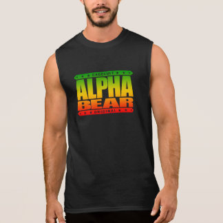 ALPHA BEAR - Hairy Men Rule The World Meme, Rasta Sleeveless Shirt