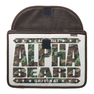 ALPHA BEARD - I Grow Savage Facial Hair, Camo MacBook Pro Sleeve
