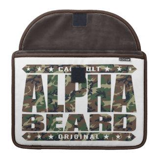 ALPHA BEARD - I Grow Savage Facial Hair, Camo Sleeves For MacBooks