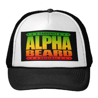 ALPHA BEARD - I Grow Savage Facial Hair, Rasta Trucker Hat