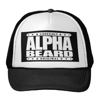 ALPHA BEARD - I Grow Savage Facial Hair, White Trucker Hat