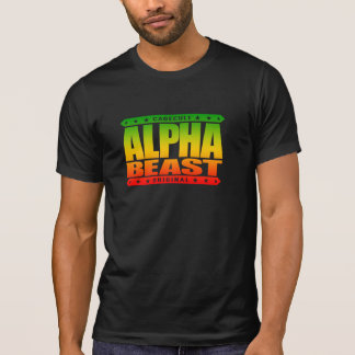 ALPHA BEAST - Only Way To Live Is Untamed, Rasta Tees