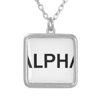 Alpha (BLACK) Silver Plated Necklace