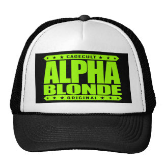 ALPHA BLONDE - Top of the Female Food Chain, Lime Trucker Hat