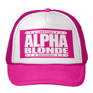 ALPHA BLONDE - Top of the Female Food Chain, White Trucker Hat