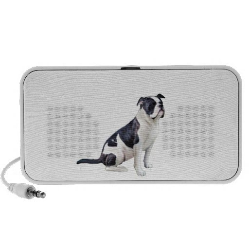 Alpha Blue Blood Bulldog (B) - black and white iPod Speakers