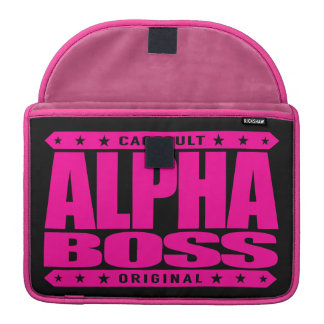ALPHA BOSS - Persistence Leads to Success, Pink Sleeve For MacBooks