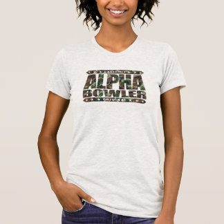 ALPHA BOWLER - Always Aim For Perfect Game, Camo T-Shirt