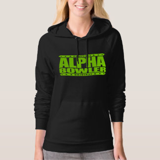 ALPHA BOWLER - Always Aim For Perfect Game, Lime Hoodie