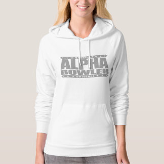 ALPHA BOWLER - Always Aim For Perfect Game, Silver Hoodie