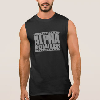 ALPHA BOWLER - Always Aim For Perfect Game, Silver Sleeveless Shirt