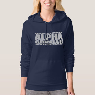 ALPHA BOWLER - Always Aim For Perfect Game, White Hoodie