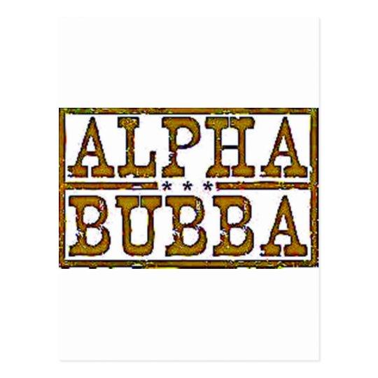 Alpha Bubba Postcard