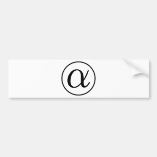 Alpha Bumper Sticker