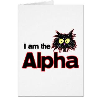 Alpha Cat Greeting Card