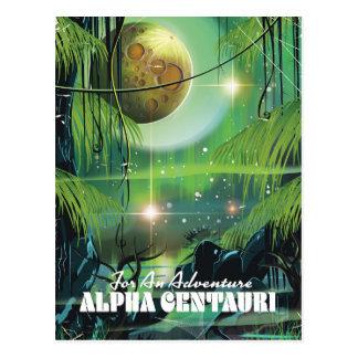 Alpha Centauri retro swamp sci-fi poster Postcard