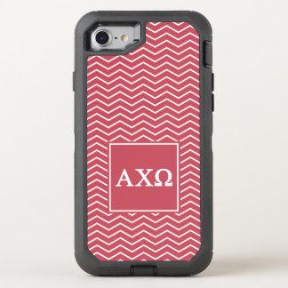 Alpha Chi Omega   Chevron Pattern OtterBox Defender iPhone 7 Case