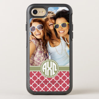 Alpha Chi Omega   Monogram and Photo OtterBox Symmetry iPhone 7 Case