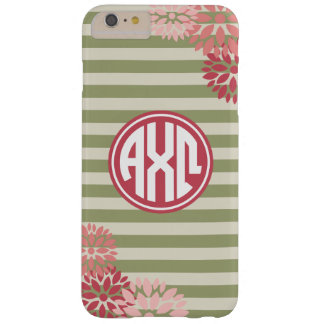 Alpha Chi Omega   Monogram Stripe Pattern Barely There iPhone 6 Plus Case