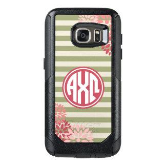 Alpha Chi Omega   Monogram Stripe Pattern OtterBox Samsung Galaxy S7 Case