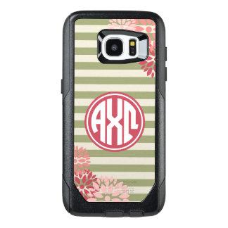 Alpha Chi Omega   Monogram Stripe Pattern OtterBox Samsung Galaxy S7 Edge Case