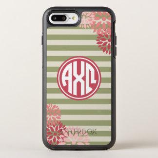 Alpha Chi Omega   Monogram Stripe Pattern OtterBox Symmetry iPhone 7 Plus Case