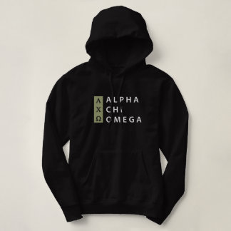 Alpha Chi Omega | Stacked Logo Hoodie