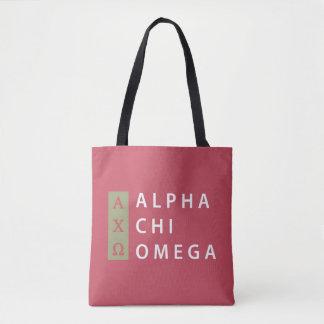 Alpha Chi Omega   Stacked Logo Tote Bag