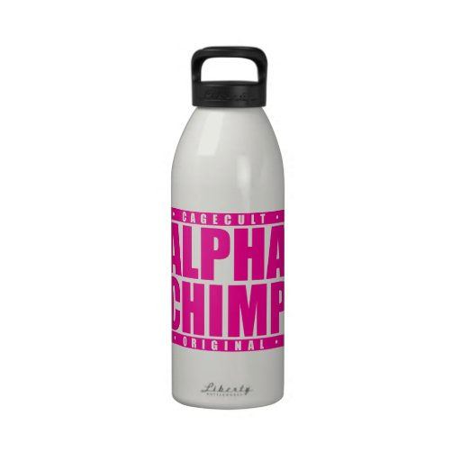 ALPHA CHIMP: Mixed Martial Arts Primate, Pink Water Bottle