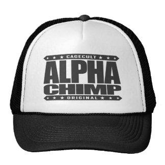 ALPHA CHIMP - Proud of My 98% Primate DNA, Black Trucker Hat