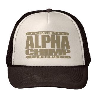ALPHA CHIMP - Proud of My 98% Primate DNA, Gold Trucker Hat