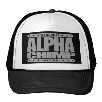 ALPHA CHIMP - Proud of My 98% Primate DNA, Silver Trucker Hat